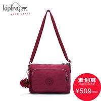 【聚】Kipling凯浦林2016秋季新款女包单肩斜跨包K13549红莓色