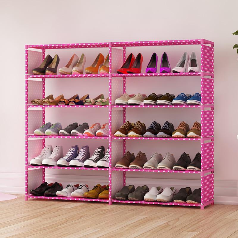 开迪简易鞋架双排鞋柜