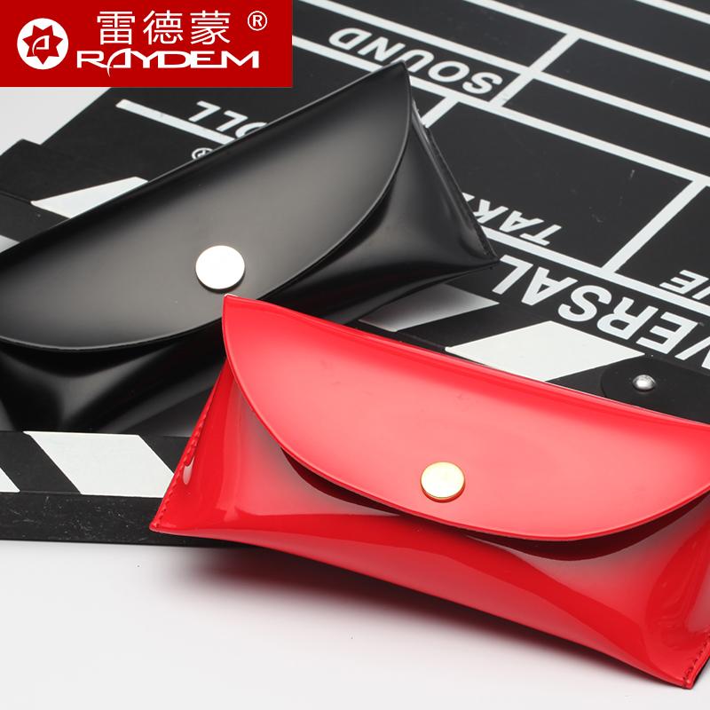 便携太阳镜眼镜盒简约时尚男女款皮革近视镜架盒子手工镜盒潮新款