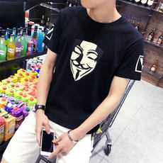 Summer Korean version of the Japanese men's T-shirt male short-sleeved round neck collar body t-shirt half-sleeved clothes men's clothing shirt