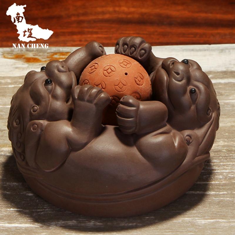 南埕招财貔貅茶具A款 紫砂茶玩