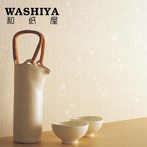 和纸屋米色日式墙纸小花