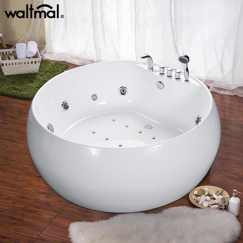 沃特玛圆形浴缸独立式双人冲浪按摩浴缸YG708
