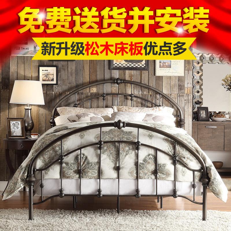 诺雅佳欧美式双人床铁架床bf052a