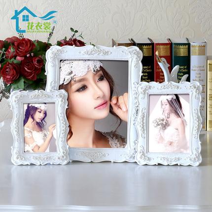 田园相框摆台5寸6 7 8 10 12白色相架创意婚纱照片框七寸韩式画框