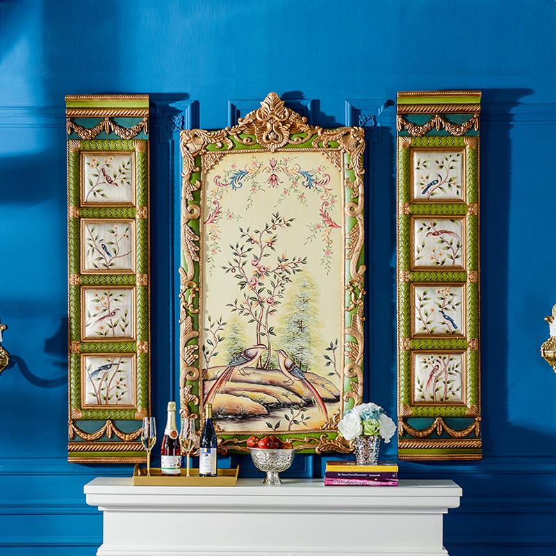 奇居良品法式家居墙面装饰手工彩绘ZSH0283