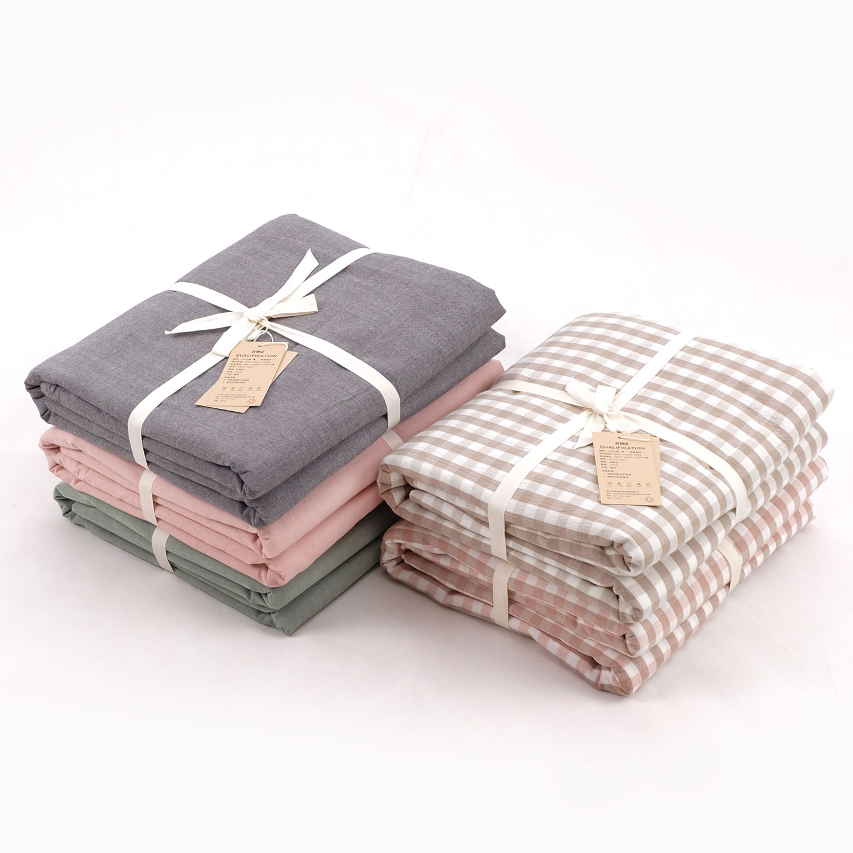 鱼跃家纺水洗棉麻良品风床上用品水洗棉/被套