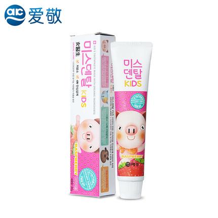 韩国进口爱敬女医生儿童牙膏正品包邮 原装防蛀牙正品3-6-9岁换牙