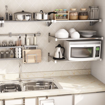 1208S thick 304 stainless steel wall hanging kitchen shelf wall hanging shelf shelf bathroom storage rack