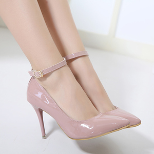 ankle strap shoes, pink