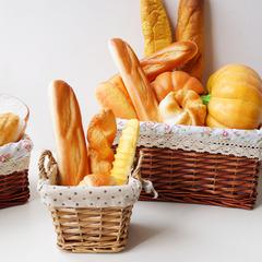 仿真面包蛋糕模型配收纳布篮面包框套装 LMDEC橱柜摆设展厅装饰品
