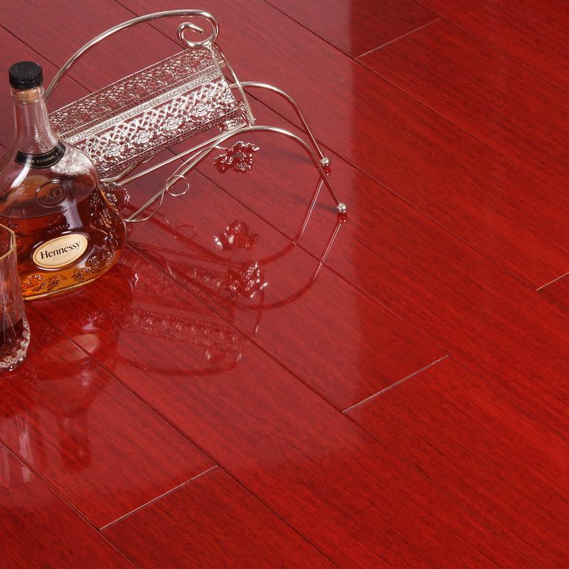 博典品牌番龙眼红色纯实木18mm全实木木6687
