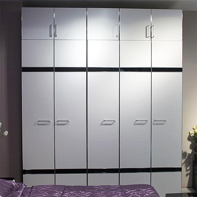 美福豪现代简约板式两门三门四门衣柜整体大衣橱定制组合特价W-35