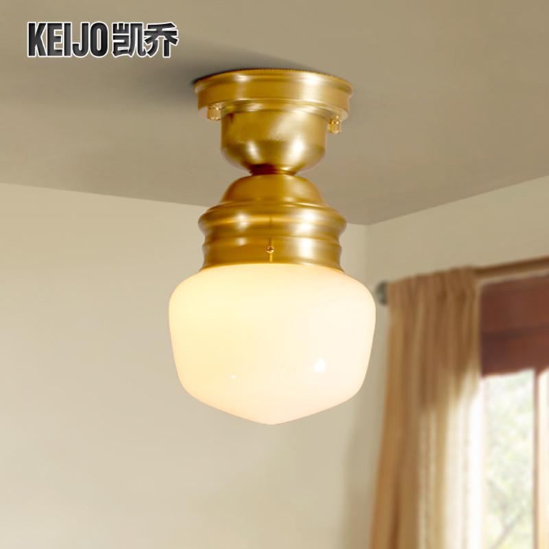 凯乔美式全铜吸顶灯TX151