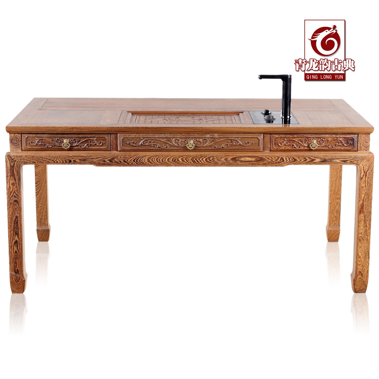 青龙韵鸡翅木带电磁炉泡茶桌419