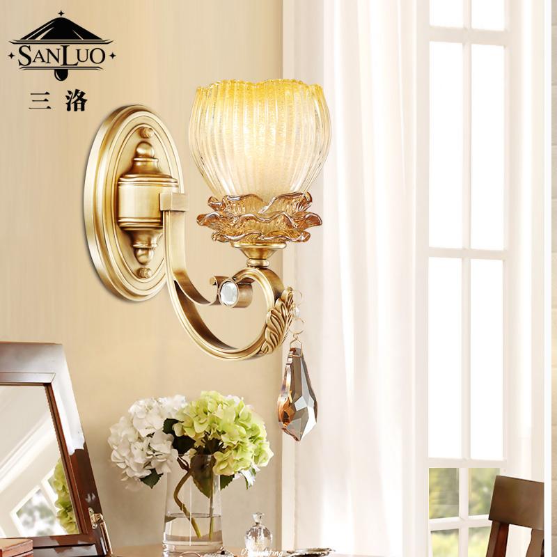 三洛美式全铜壁灯Y084-1B