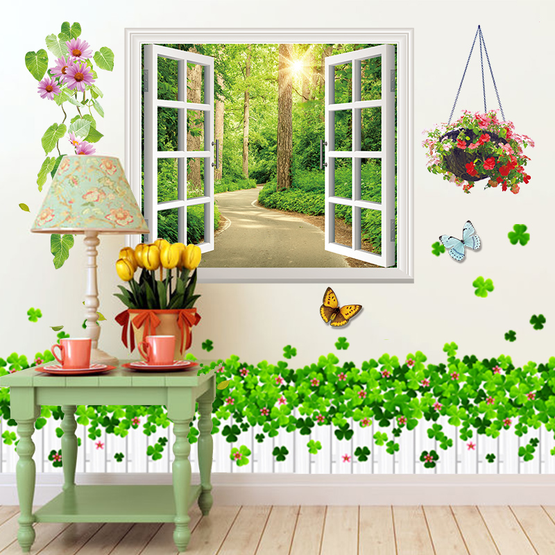 3D Wall Stickers Bedroom Room Decoration Wallpaper Self Adhesive Warm Painting Background Poster Dormitory Small Fresh