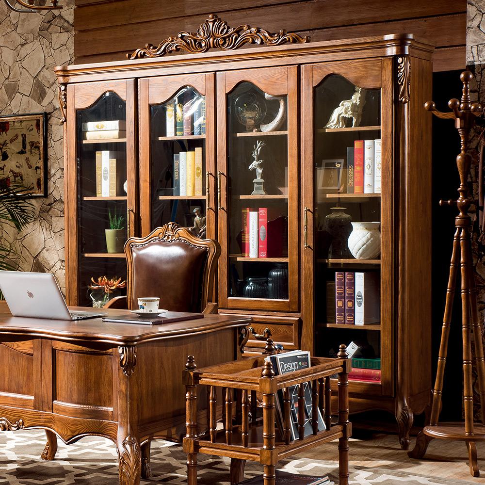 温迪居品美式实木书柜WD31513