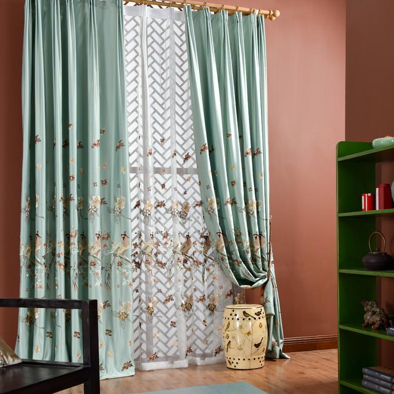 杰卡德新中式古典高档窗帘g606