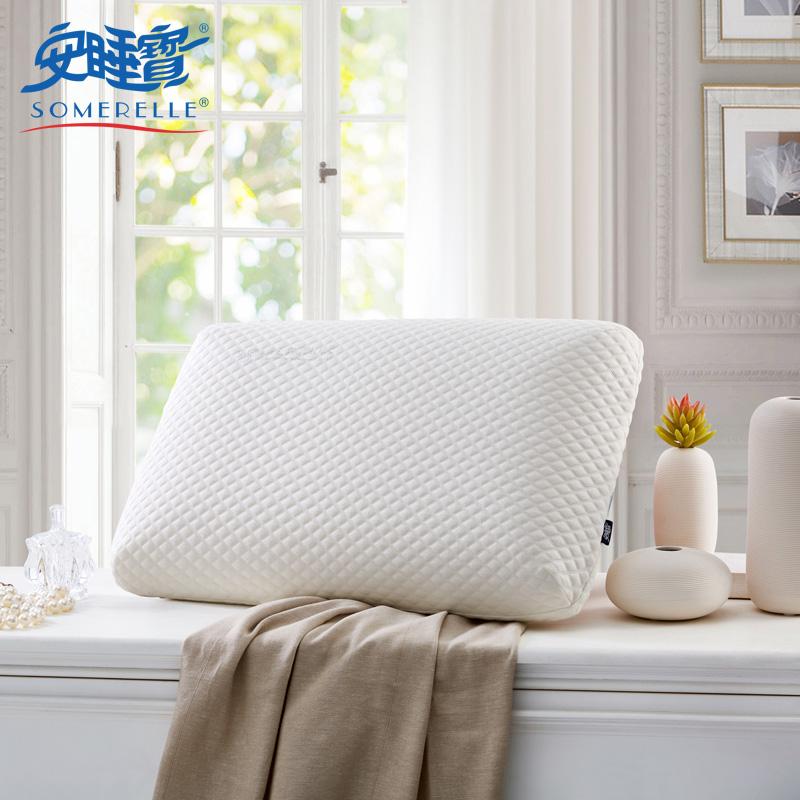 安睡宝针织烫钻记忆绵枕S62662AC