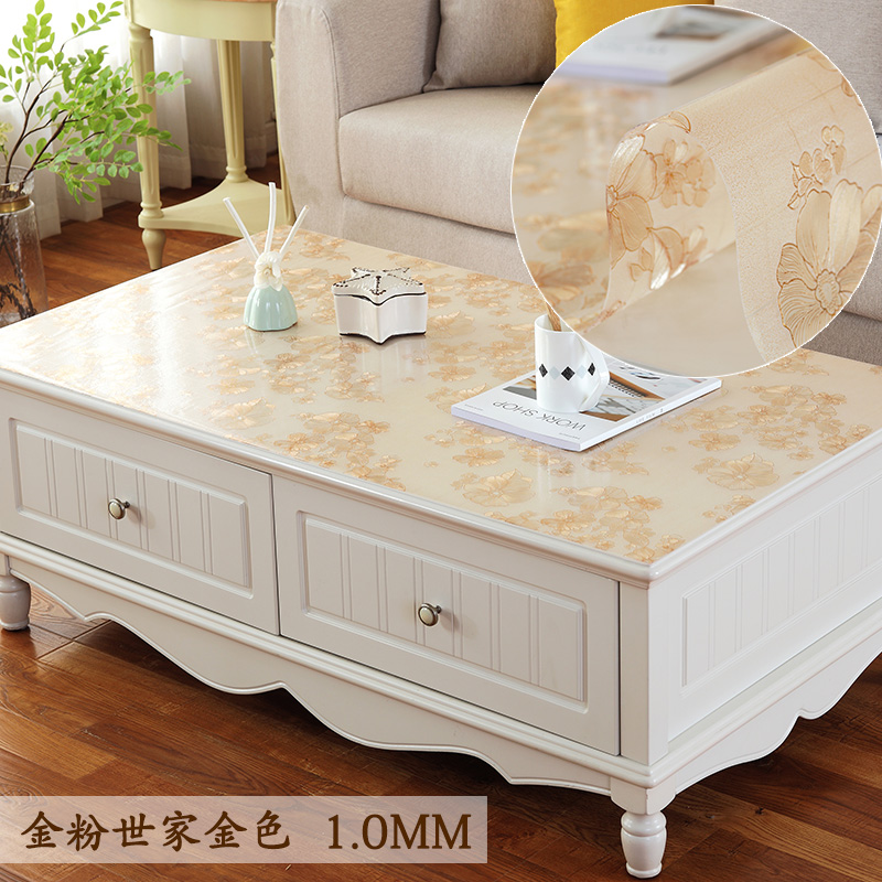 Custom Pvc Transparent Tablecloth Coffee Table Tablecloth Table Mats Coffee  Table Pad Tablecloth Waterproof Anti Hot Oil Wash Away Rectangle
