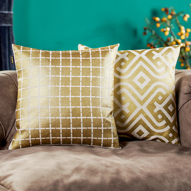 w奇居良品欧式现代沙发床头靠垫套BZ0119