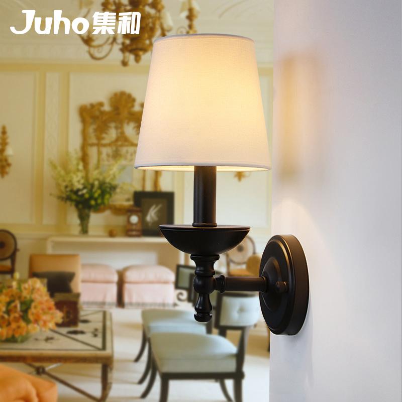 灯饰集和美式乡村铁艺床头壁灯MB141110