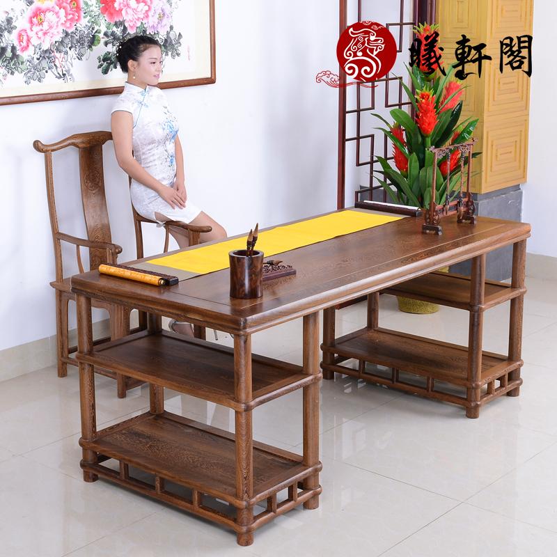 曦轩阁红木家具鸡翅木书桌jcm--sa001