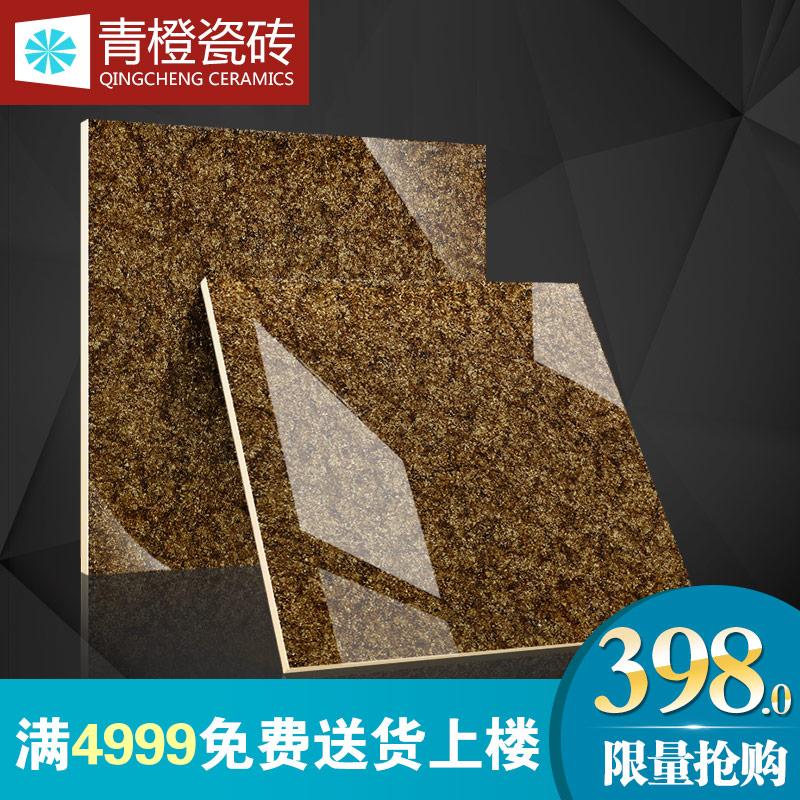 青橙瓷砖微晶石瓷砖驼绒褐800x800爆米花