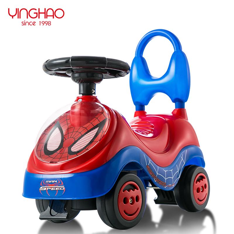 鹰豪儿童玩具宝宝四轮扭扭车儿童学步车1-3岁溜溜车带音乐滑行车