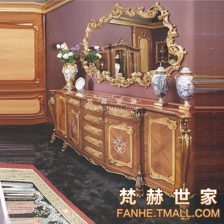 梵赫意大利实木雕花餐边柜f3014