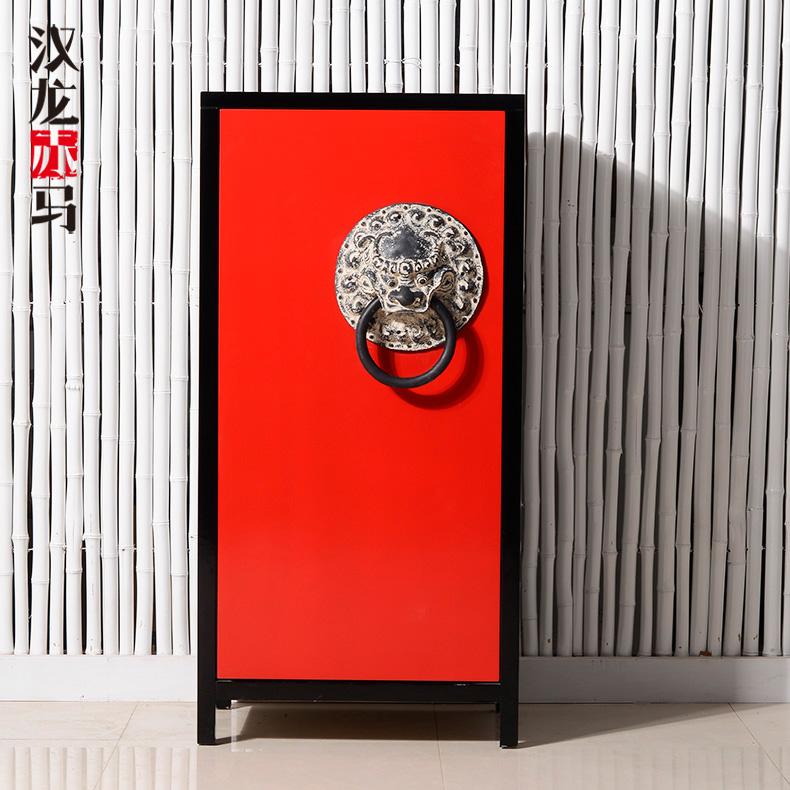 汉龙赤马新中式古典风格鞋柜j110