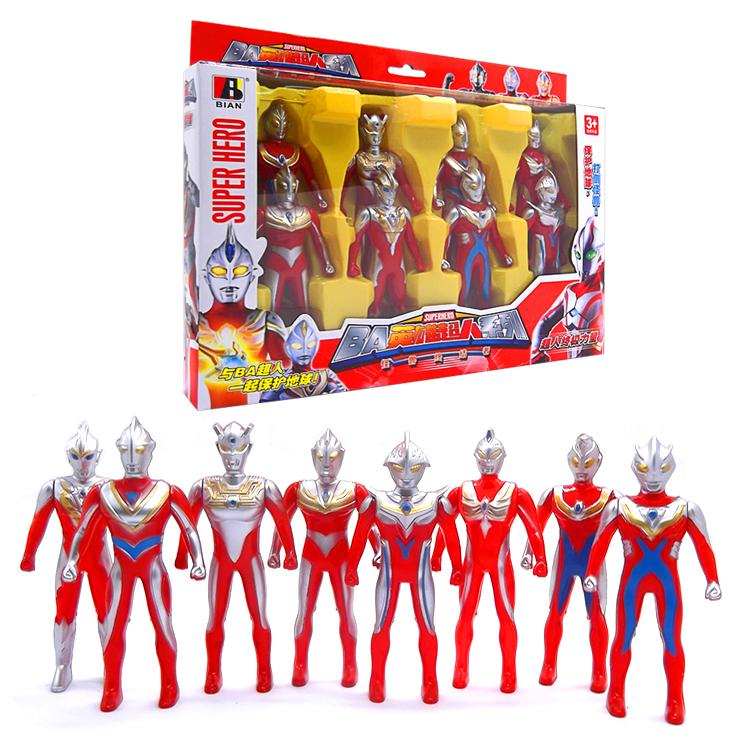 奥特曼超人家族八人套装模型佐菲杰克泰罗戴¥14.9 原价19.9元