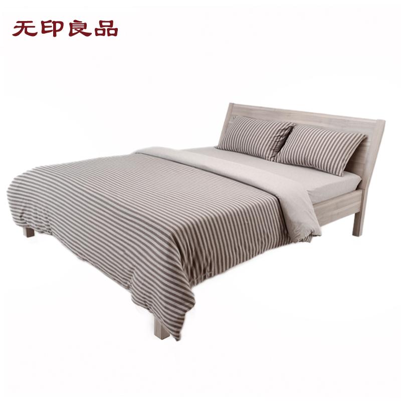 无印良品绿野山谷简约条纹枕T1405(T/BR)