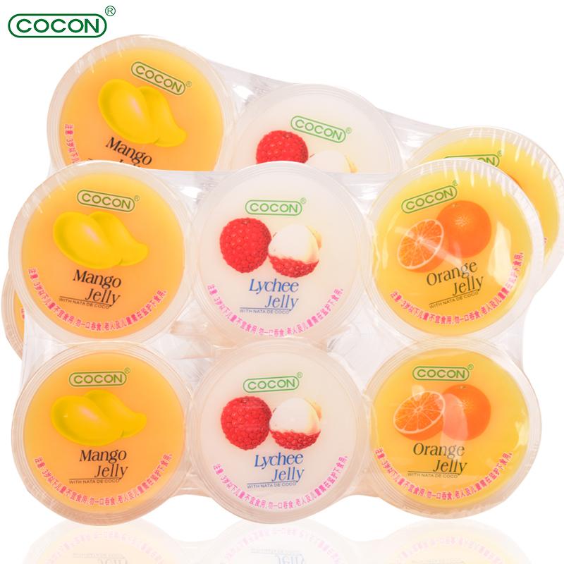 马来西亚进口果肉果冻零食COCON/可康果味型椰果布丁18杯儿童小吃