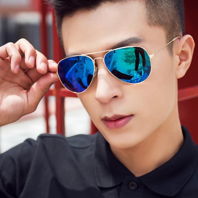 玻璃太阳镜男眼睛潮人个性蛤蟆驾驶司机墨镜男士2018开车眼镜女潮