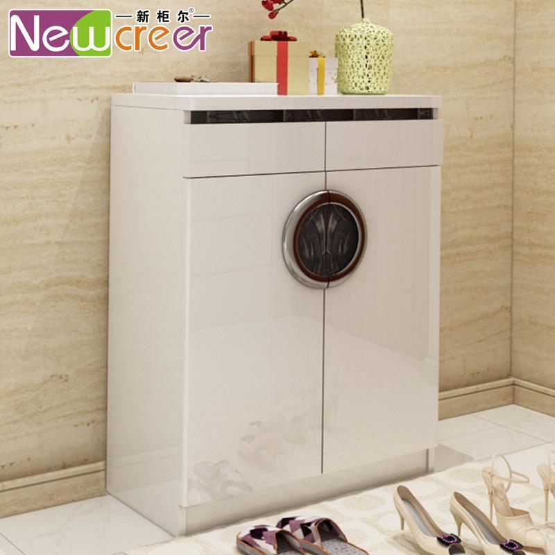新柜尔现代简约白烤漆储物柜A137
