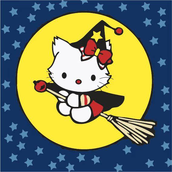 佳彩天颜动漫卡通手绘装饰画可爱猫