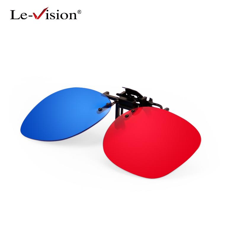 levision红蓝近视夹片3D眼镜电脑电视手机通用3d眼镜三D眼镜
