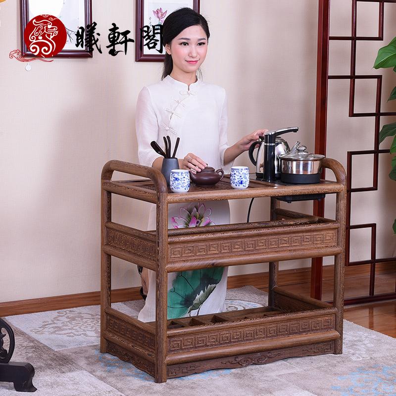 曦轩阁三层鸡翅木茶几jcm--xcj002