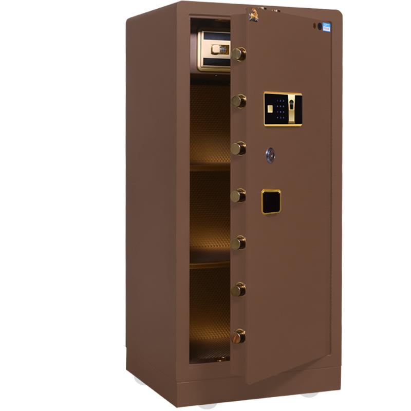 虎牌保险柜3C认证办公指纹100cm型全钢大型家用密码保险箱120CM