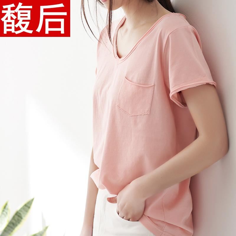 韩版女装夏季百搭T恤