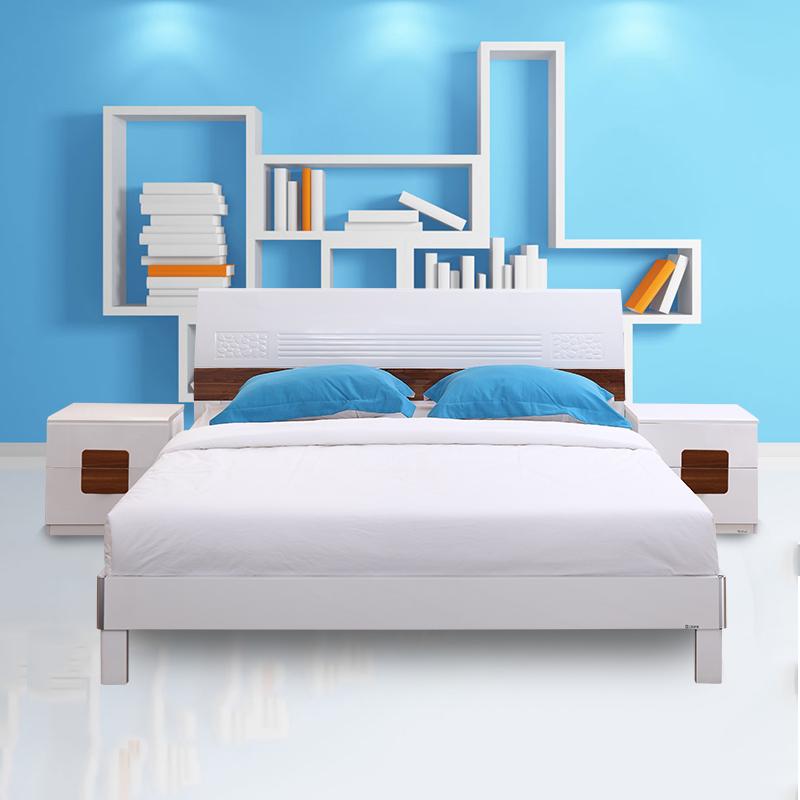 三叶家私板式高箱床13D-C05