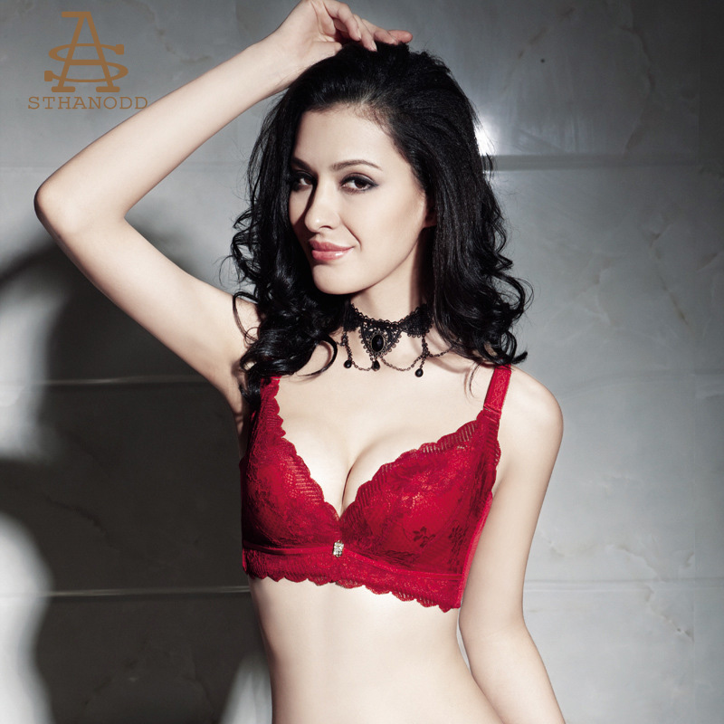 STHANODD-比加诺 春夏雅致蕾丝高贵气质女士调整型聚拢上托文胸