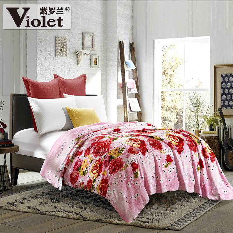 紫罗兰棉毛毯tz5619