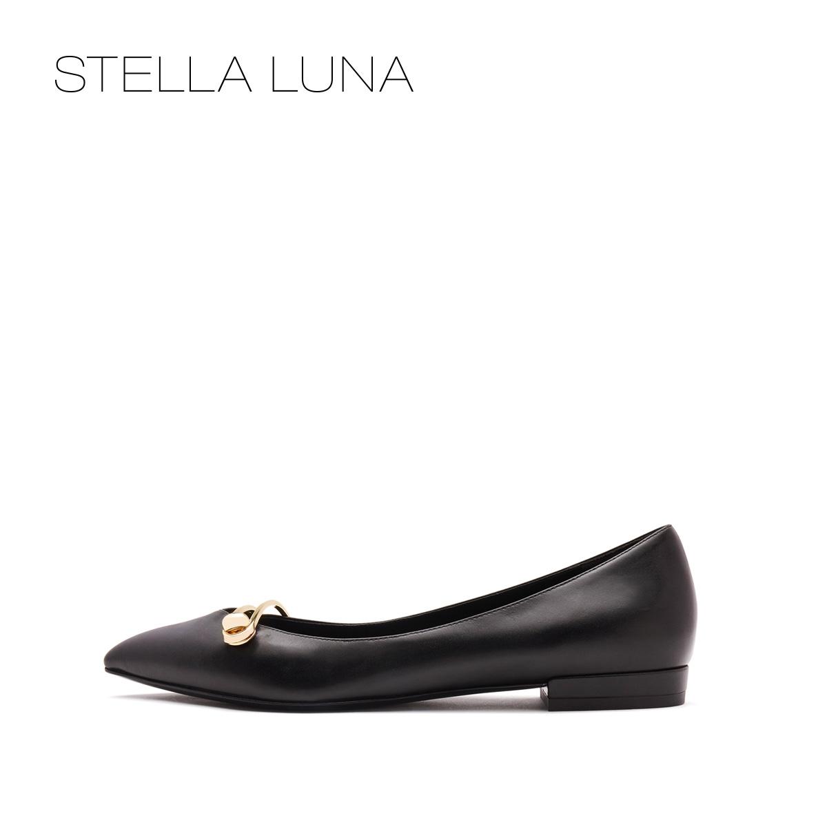 STELLA LUNA春夏新品单鞋牛皮buckle平跟女鞋SH134L24002