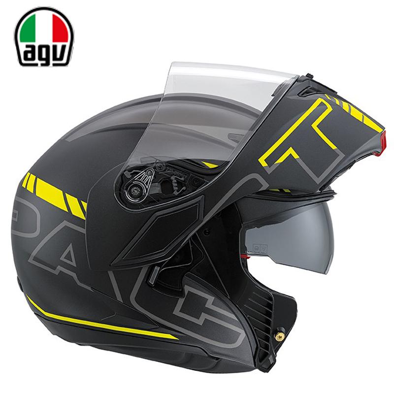 意大利AGV防雾双镜片揭面盔头盔男女四季摩托车机车赛车全盔冬季
