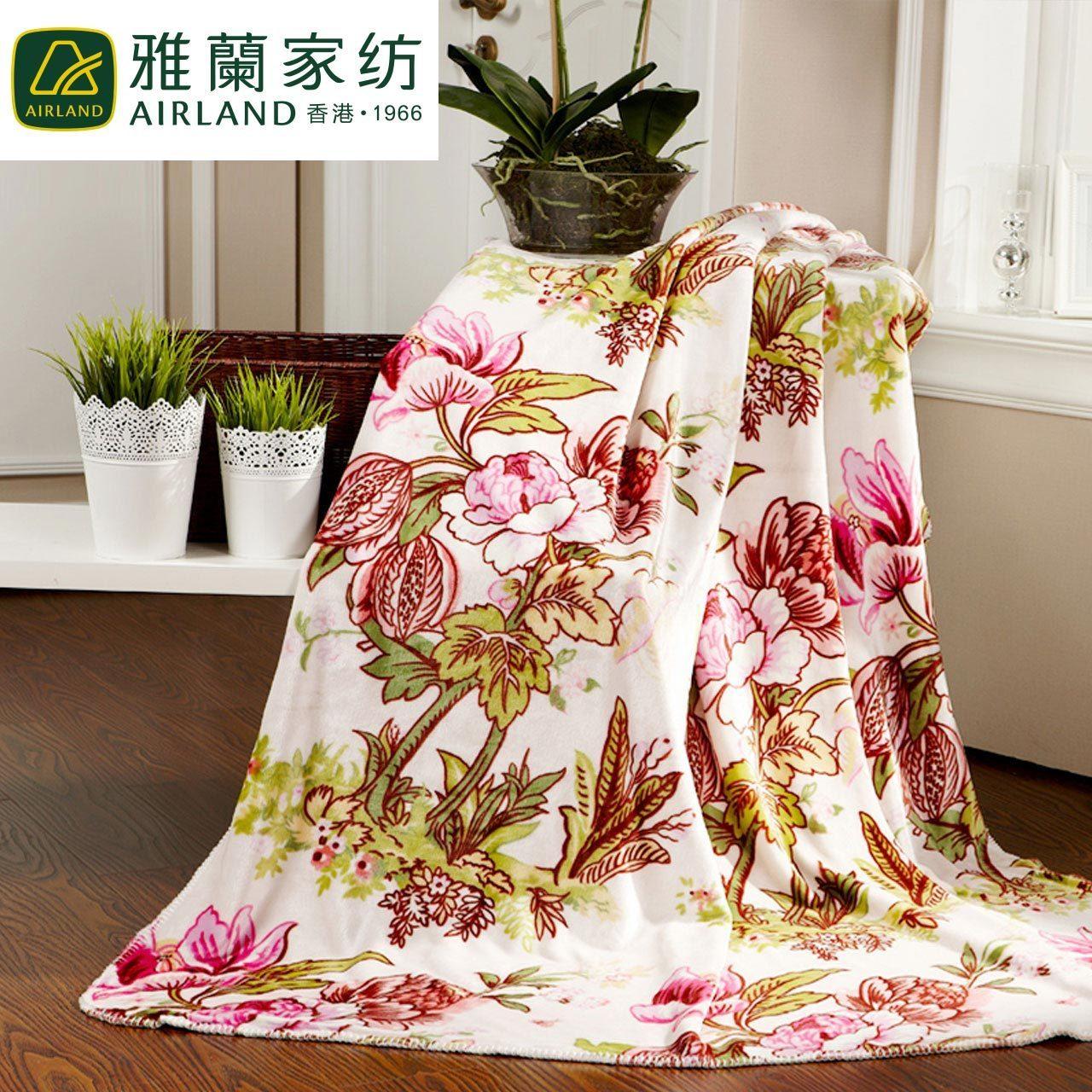 雅兰家纺保暖双层加厚法兰绒毯