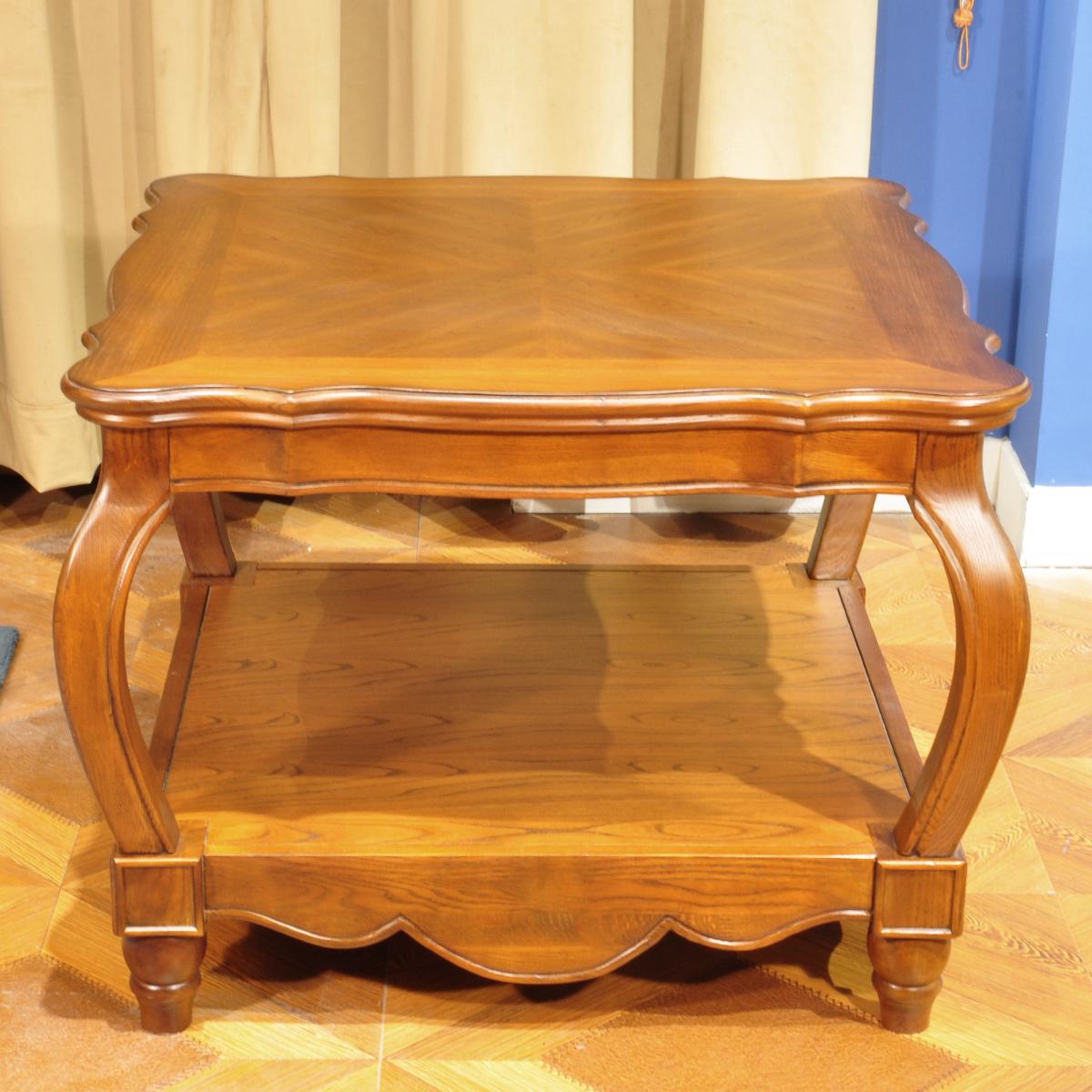 温迪居品家具美式仿古实木欧式角几WD41325