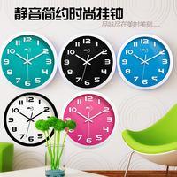 钟表圆形时钟挂钟静音表现代简约客厅创意挂表卧室时尚电池石英钟